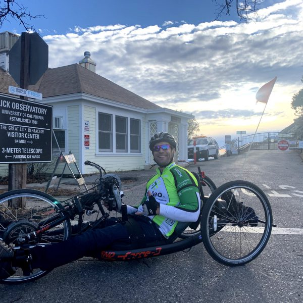 Top of Mount Hamilton 37 miles / 4,946 ft