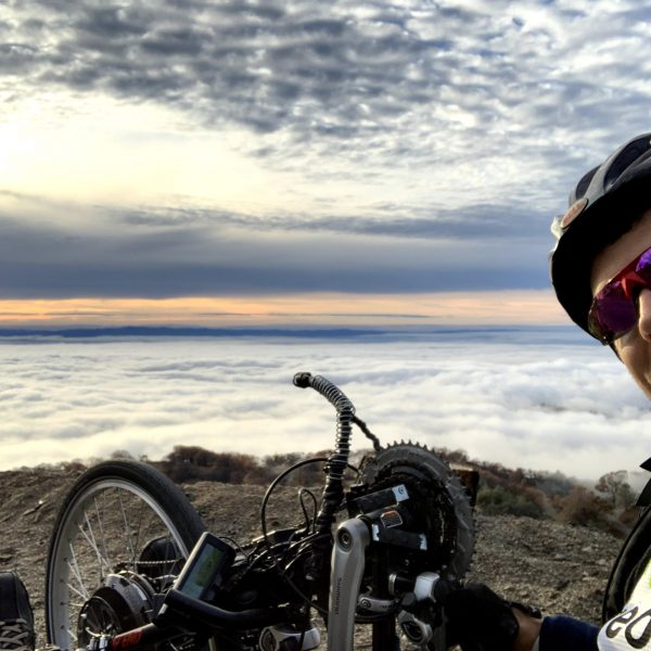 Above the clouds biking up Mount Hamilton