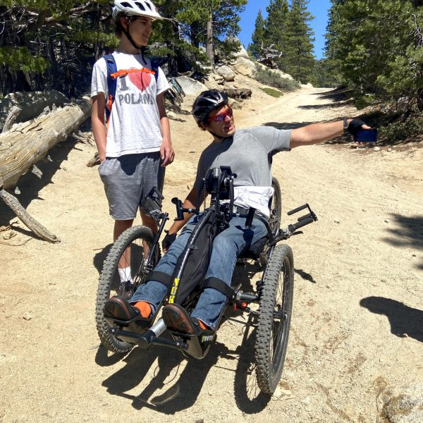 Off-road handcycling in Tahoe