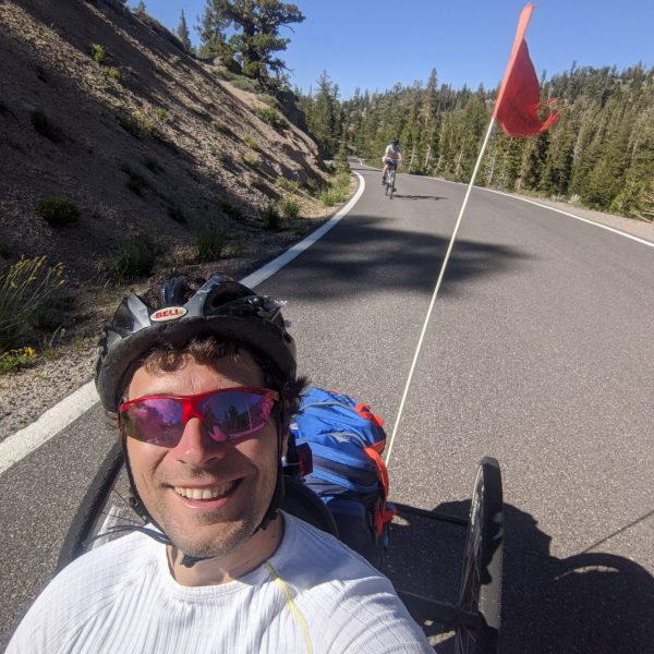 Biking up HWY 4